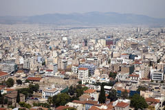Athens cityscape. View of modern Athens from the Acropolis stock photos