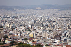Athens cityscape. View of modern Athens from the Acropolis stock photo