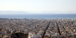 athens cityscape Arkivbilder