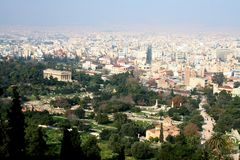 Athens cityscape Royalty Free Stock Images