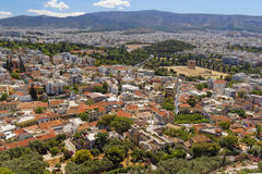 Athens cityscape, east view from Acropolis Stock Photos