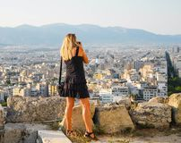 The Athens cityscape. Royalty Free Stock Photo
