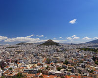 Athens cityscape, north view from Acropolis Royalty Free Stock Images