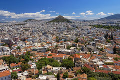 Athens cityscape, north view from Acropolis Stock Photography