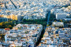 Athens cityscape view Royalty Free Stock Images