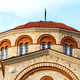 in athens cyclades greece old  architecture and greek  village t Royalty Free Stock Photo
