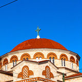 in athens cyclades greece old  architecture and greek  village t Royalty Free Stock Photography