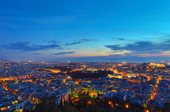 Athens at dawn Royalty Free Stock Images