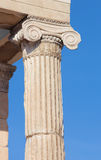 Athens - The detail of Ionic capital of Erechtheion on Acropolis Royalty Free Stock Images