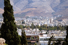 Athens and distant hillside Stock Images