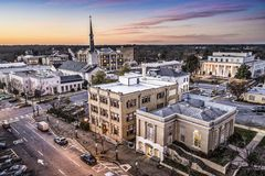 Athens Georgia Townscape Royalty Free Stock Images