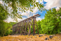 Athens Georgia Train Trestle. Athens, Georgia, USA abandoned train trestle Royalty Free Stock Photo