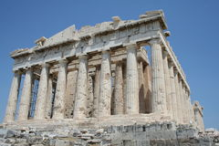 Athens - greece. Parthenon at acropolis in greece Royalty Free Stock Photos