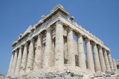 Athens - greece. Parthenon at acropolis in greece Stock Photos