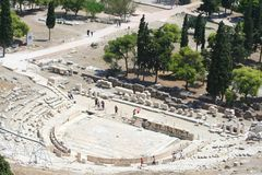 Athens - greece. Odeon at acropolis in greece Royalty Free Stock Photos