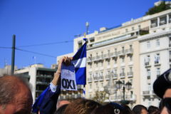 ATHENS, GREECE, 28/10/2011- Protests during parade Royalty Free Stock Image