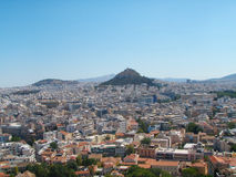 Athens, Greece from above, looking towards Mount Lycabettus Stock Photography