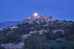 Athens Greece, acropolis in the twilight Stock Image