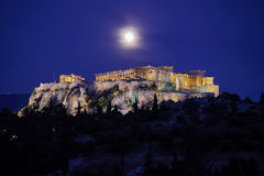 Athens Greece, acropolis in the twilight Stock Images