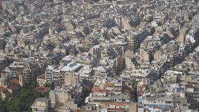Athens, Greece. Aerial view on rooftops and houses in Athens, Greece stock footage