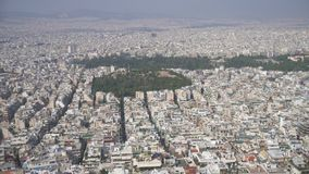 Athens, Greece. Aerial view on rooftops and houses in Athens, Greece stock video