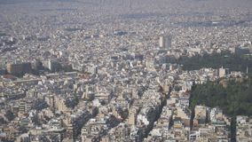 Athens, Greece. Aerial view on rooftops and houses in Athens, Greece stock video footage