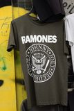 Ramones punk rock music t-shirt Royalty Free Stock Photo