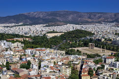 Athens, Greece, as seen from the Acropolis Royalty Free Stock Photos