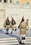 ATHENS, GREECE - AUGUST 14: Changing guards near parliament on S Royalty Free Stock Image