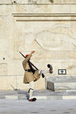 ATHENS, GREECE - AUGUST 14: Changing guards near parliament on S Royalty Free Stock Photo