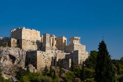 Acropolis in Athens royalty free stock photography