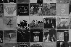 Vinyl records pop rock music album cover art royalty free stock photos