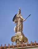 Athens Greece, back view of Athena statue stock images