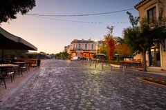 Athens, Greece. Bars and coffee shops in Thissio near ancient Agora in Athens Stock Photo