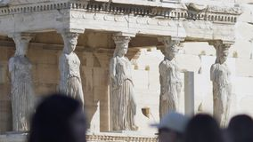 Caryatides Replica Statues stock video footage