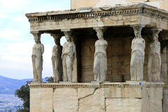 Athens, Greece - Caryatids of the erechteum Stock Photography