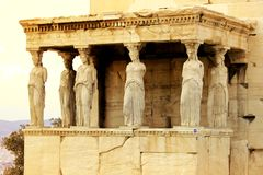 Athens, Greece - Caryatids of the erechteum Royalty Free Stock Photography