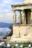 Athens, Greece - Caryatids of the erechteum Stock Image