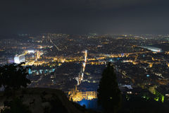Athens Greece city lights. Crossroads night view. Stock Images