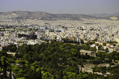 Athens Greece city view. A view of the city of Athens Greece Royalty Free Stock Images