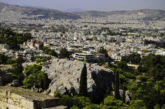 Athens Greece city view. A view of the city of Athens Greece Royalty Free Stock Photos