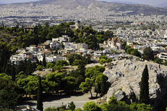 Athens Greece city view. A view of the city of Athens Greece Royalty Free Stock Image