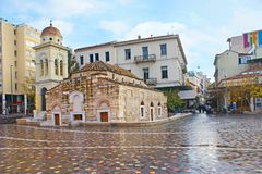 Medieval church in Athens stock photography