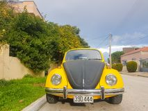 Athens, Greece 28 December 2017. Retro vintage beatle sport car on the road.  Stock Photography