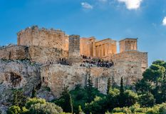The Acropolis of Athens. stock photography