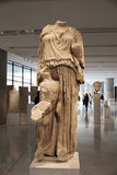 ATHENS, GREECE - DECEMBER 30, 2016: View of the Acropolis museum Royalty Free Stock Photos