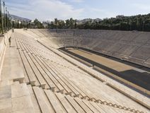 View of the ancient stadium of the first Olympic Games in white marble - Panathenaic Stadium stock photography