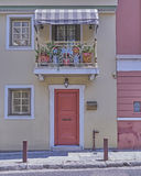 Athens Greece, elegant house in Plaka old neighborhood Stock Image