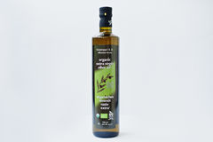 Athens, Greece - February 22, 2017: Organic extra virgin olive o Royalty Free Stock Photo