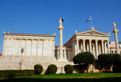athens greece gammal universitetar Royaltyfri Foto